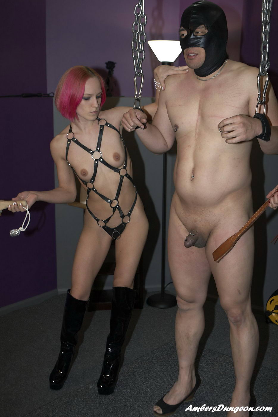 Male and female slaves made to fuck 1