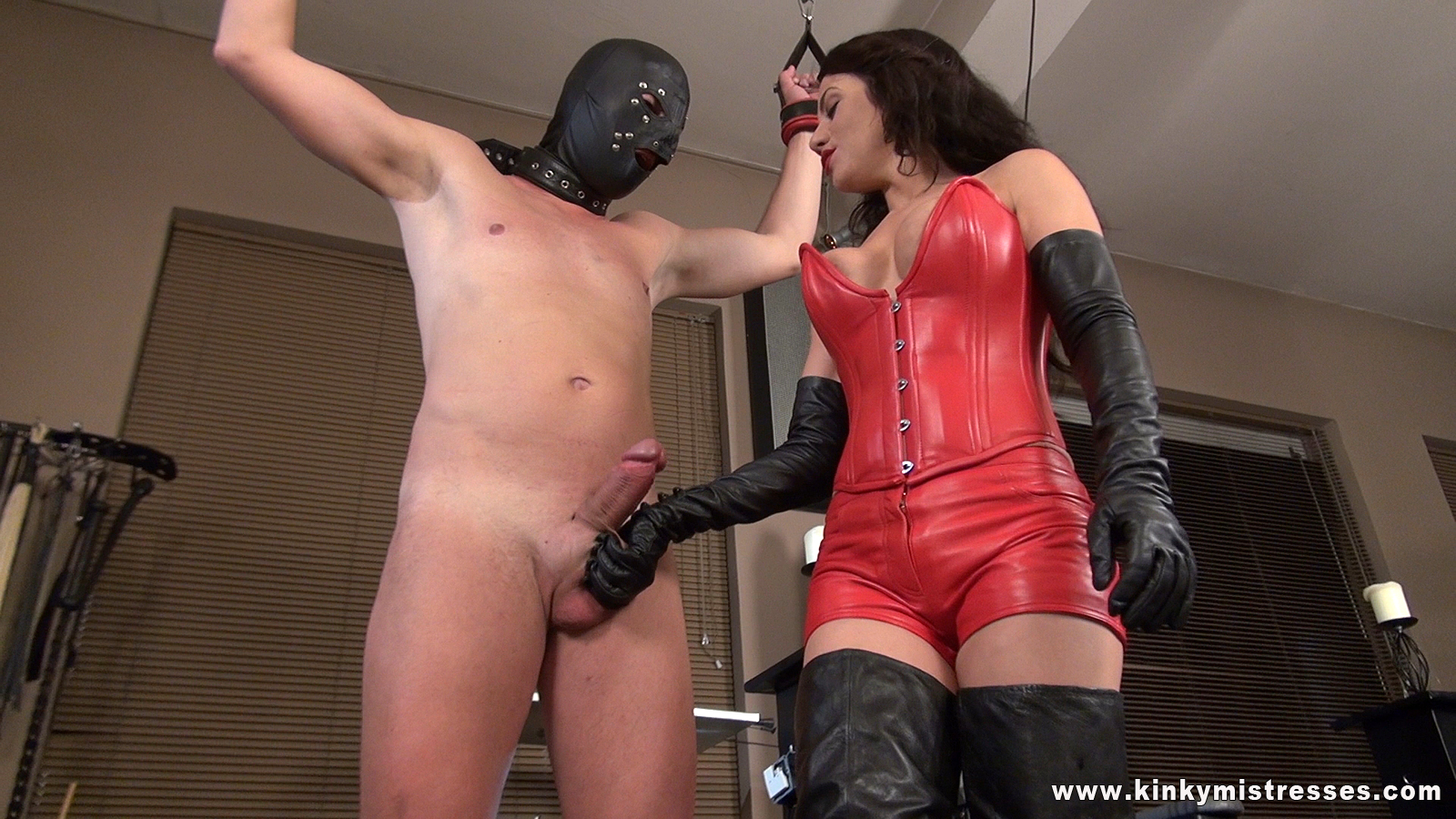 Latex gloves handjob huge first time lust