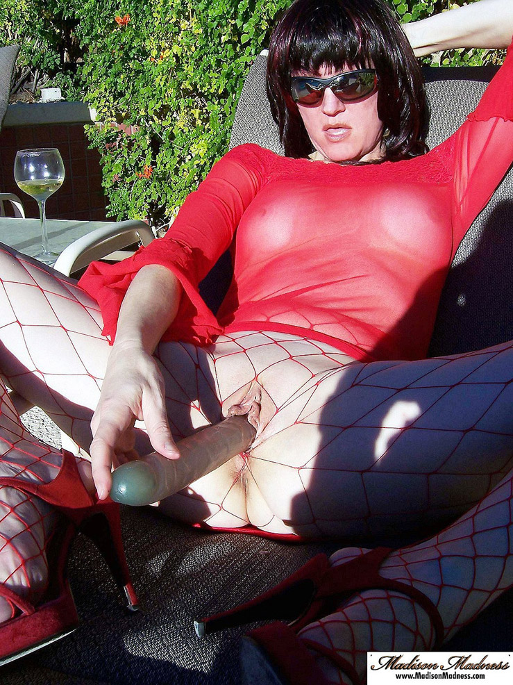 image Busty lady in pantyhose rides dick at work