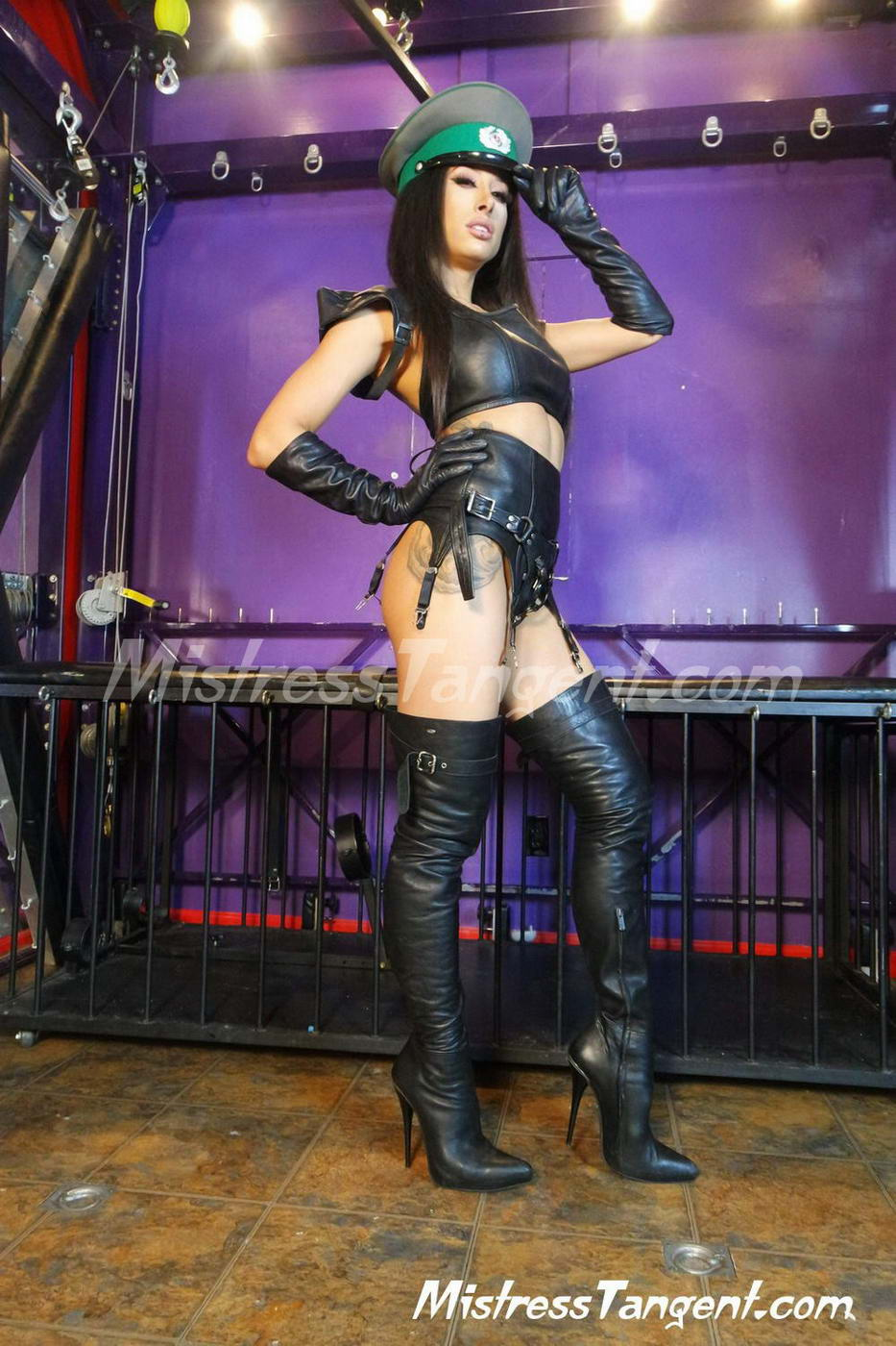 image Thigh high leather boots on bed humping part 1